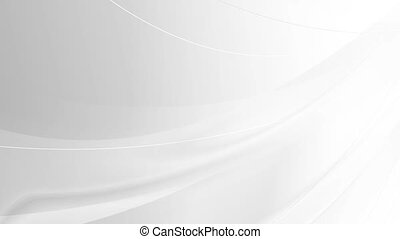 Abstract concept modern tech white waves motion background....