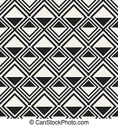Abstract concept monochrome geometric pattern. Black and white minimal background. Creative illustration template. Seamless stylish texture. For wallpaper, surface, web design, textile, decor.