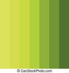 Abstract conceptual background of rectangles in different shades of green. Halftone effect. Color palette. Vector illustration.
