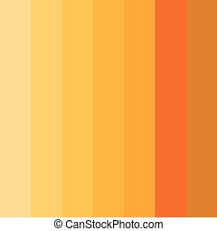 Abstract conceptual background of rectangles in different shades of orange. Halftone effect. Color palette. Vector illustration.