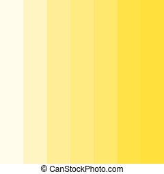 Abstract conceptual background of rectangles in different shades of yellow. Halftone effect. Color palette. Vector illustration.