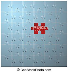 Abstract conceptual background with incomplete jigsaw puzzle 1
