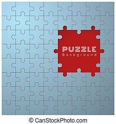 Abstract conceptual background with incomplete jigsaw puzzle 2