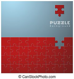 Abstract conceptual background with incomplete jigsaw puzzle 3