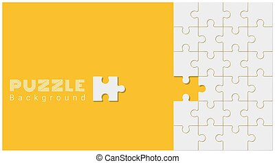 Abstract conceptual background with incomplete jigsaw puzzle 4