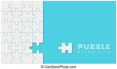 Abstract conceptual background with incomplete jigsaw puzzle 5