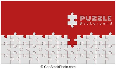 Abstract conceptual background with incomplete jigsaw puzzle 6