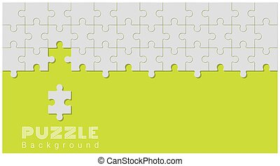 Abstract conceptual background with incomplete jigsaw puzzle 7