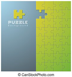 Abstract conceptual background with incomplete jigsaw puzzle 8