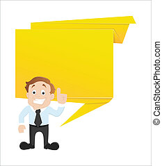 Businessman Vector with Banner
