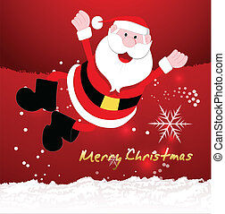 Happy Santa Christmas Vector