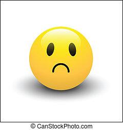 Abstract Conceptual Design Art of Sad Smiley Vector