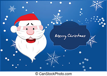 Santa Vector Christmas Background