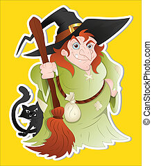 Witch Woman Illustration