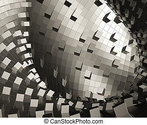 Abstract conceptual metallic design