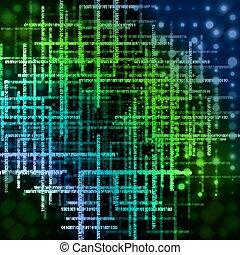abstract, conceptueel, technology-style, design-matrix,...