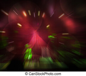 Abstract Concert Red Background
