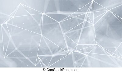 Abstract connecting dots and lines. Connection science and technology Loop background. Abstract connecting dots and lines. Connection science and technology background. Network Polygon Connection.