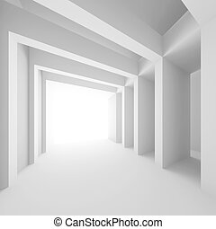 Abstract Construction - 3d Illustration of White Abstract...