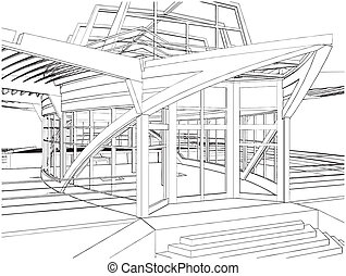 Abstract Construction Of The Ship Building Vector