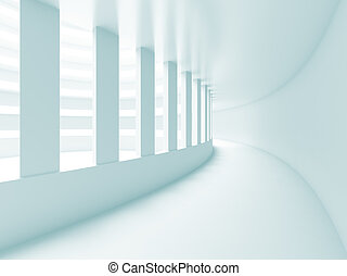 Abstract Construction - 3d Illustration of Blue Abstract...