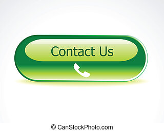 abstract contact us button vector