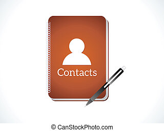 abstract contacts icon vector illustration