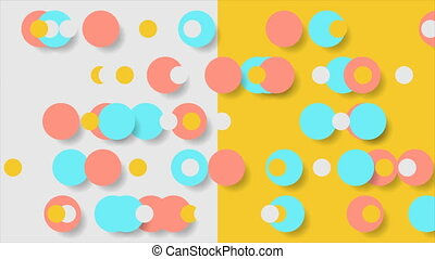 Abstract contrast geometric minimal bright motion background...