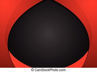 Abstract contrast red black wavy corporate background