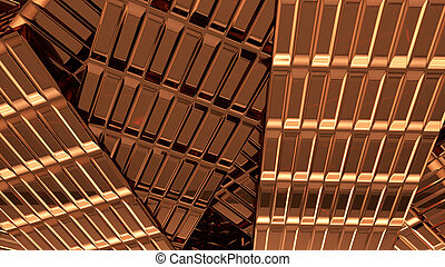 Abstract copper background 3d rendering