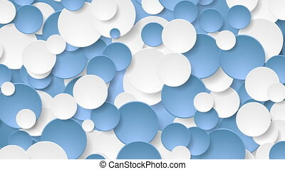 Abstract corporate blue white circles video animation