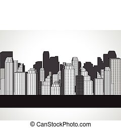 abstract corporate city buildings