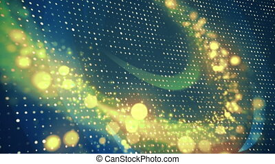 Abstract Corporate Dots with Particles Loop Background