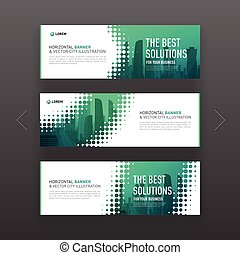 Abstract corporate horizontal banner or website slideshow...