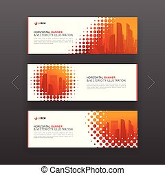 Abstract corporate horizontal web banners template -...