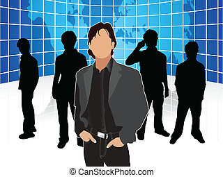 abstract corporate people template