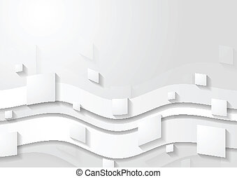 Abstract corporate tech wavy background