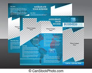 abstract corporate tri fold brochur