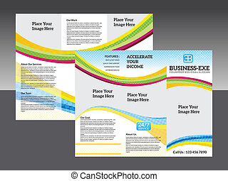 abstract corporate tri fold