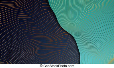Abstract corporate wavy motion background with bronze lines