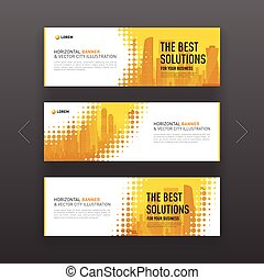 Abstract corporate web slideshow or banner layout - Abstract...