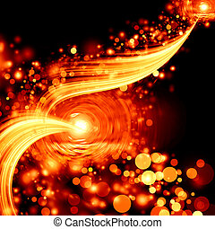 abstract cosmic time in the future - abstract cosmic wave...