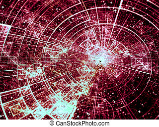 Abstract cosmos fractal - digitally generated image