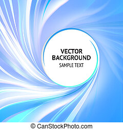 Abstract cover - Abstract blue cover with smooth lines. ...