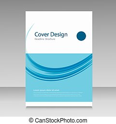 Abstract cover brochure background
