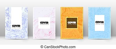 Abstract cover. Gorgeous design template. Suminaga