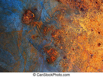 abstract cracked metal background
