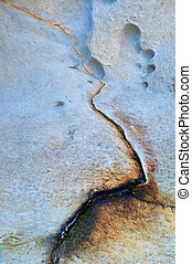 Abstract Cracked Rock