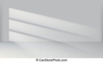Abstract Crean Empty White Room Light Interior