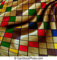 abstract, creatief, achtergrond, in, de, stijl, van, gemengde media